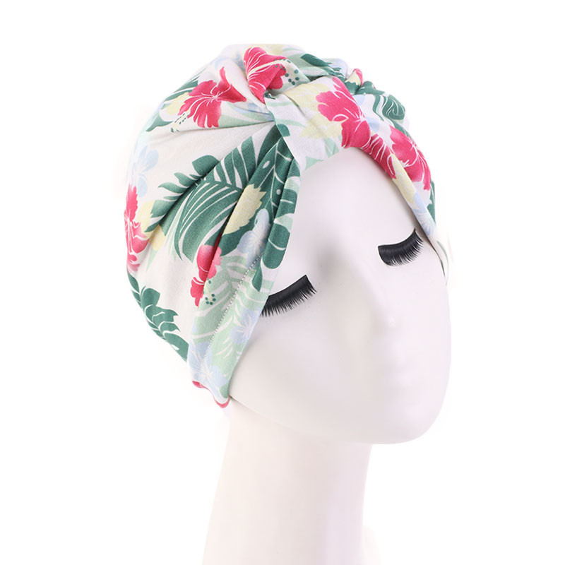 Muslim Turban Bonnet For Woman Boho National Style Print Inner Hijab Caps Arab Headwrap Turban Femme Musulman Women Head Scarf