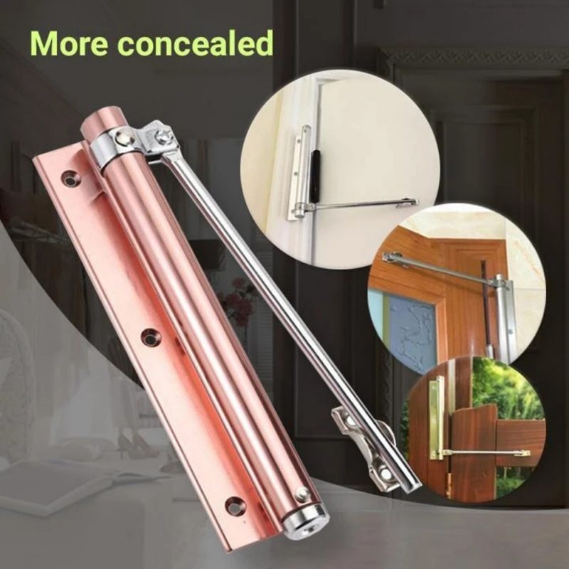 Household Adjustable Automatic Door Closer Automatic Operated Door Closer For Residential Commercial  Standard Door Closer