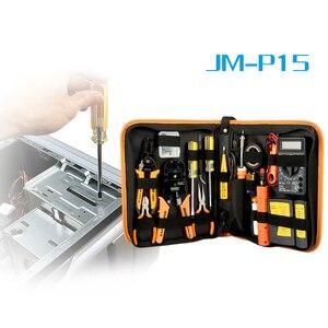 Image 4 - 17 in 1 repair Tool Kit Elektronische RJ45 RJ11 LAN Tester Networking tester Netzwerk Kabel Tracker Zange Crimp Crimper Stecker clamp