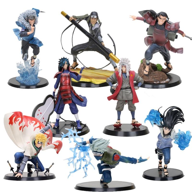 NEW 14CM Naruto Shippuden Kakashi Namikaze Minato Jiraiya Hinata Senju Hashirama Tobirama Naruto Figure PVC Action Figure Toy