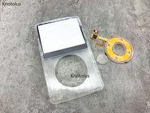 Placa frontal plástica transparente clara com roda do clique e botão para o vídeo 30gb 60gb 80 do gen do ipod 5th