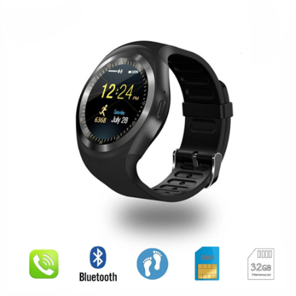Bluetooth Y1 Smart Watch Relogio Android SmartWatch Phone Call GSM Sim Remote Camera Information Display Sports Pedometer pk D13