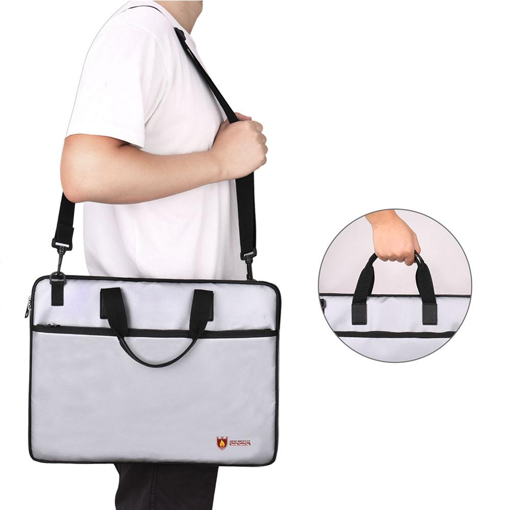 New Silicone-coated Fire-resistant Waterproof Bag With Shoulder Strap Zipper Opening And Closing For Safe Storage