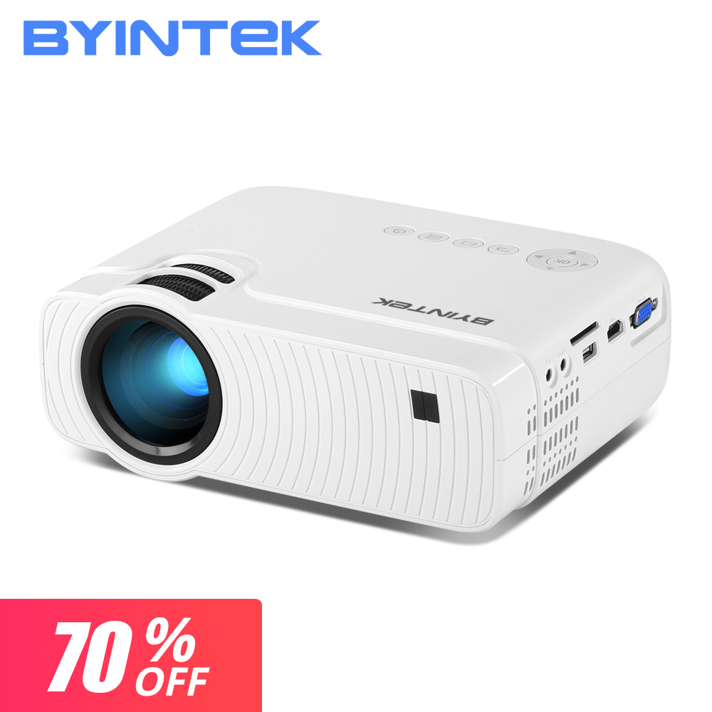 70% de desconto promoção 3 dias apenas byintek sky k2 básico 800 * 480i mini projetor de vídeo portátil para cinema 1080 p