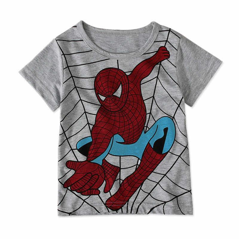 ילדי בני חולצות T קצר שרוול ילדי בנות הדפסת T חולצות כותנה ילדים פופולרי גיבור ספיידרמן סופרמן חולצות טי