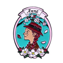 Anne Of Green Gables Enamel Pin Pecinta Buku Koleksi Klasik(China)
