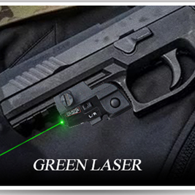 LASERSPEED Tactical Pistola Laser Sight Green MIL-STD-1913 Picatinny Rail Mini Laser Glock 17 19-4