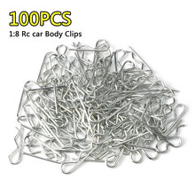 100 Stuks Rc 1/8 Body Clips Pins Bocht Post Afstandsbediening Auto Onderdelen Truck Buggy Shell Voor 1:8 Rc Auto(China)