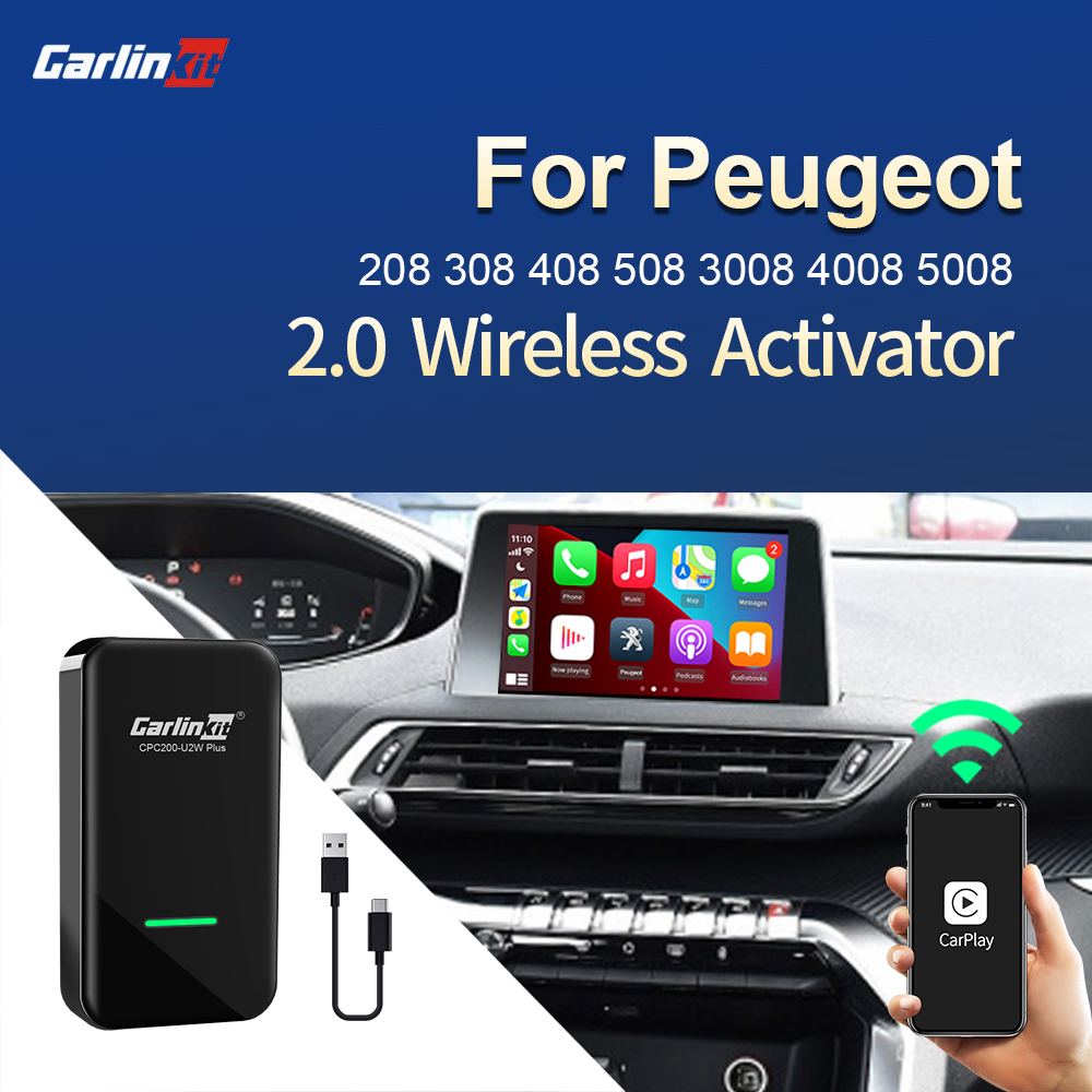 Carlinkit 2,0 Беспроводной адаптер CarPlay для Peugeot 208 308 408 508 3008 4008 5008 Carplay2Air AriPlay Smart Box USB ключ для музыки|Автомагнитолы|   | АлиЭкспресс