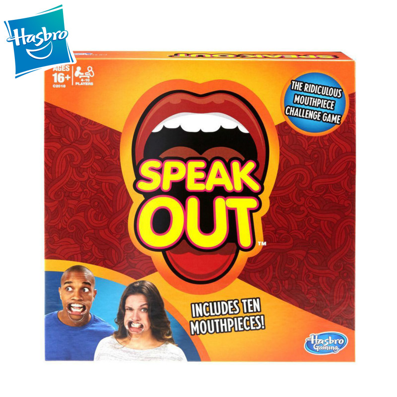 Hasbro Speak Out Game Ridiculous Mouthpiece Challenge Game Family Friends Party Socket Opener Funny Tricky Multiplayer Game