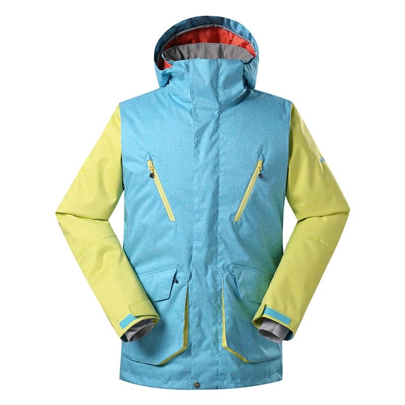 GSOU SNOW Men's Ski Jacket Snowboard Jacket Windproof Waterproof Warm Winter Ski Coat Outdoor Sports Skiing Snowboarding Wear