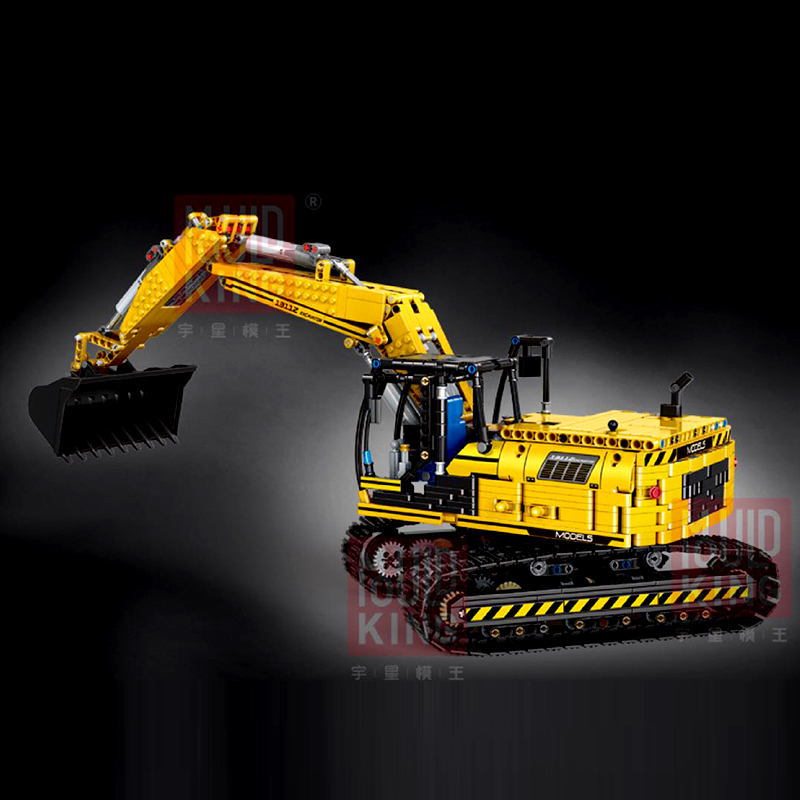 Mould King 13112 Link Belt Motorized Excavator Compatible LegoSet 8403 Moc-2513 2514 Building Blocks Bricks Educational Toy Gift