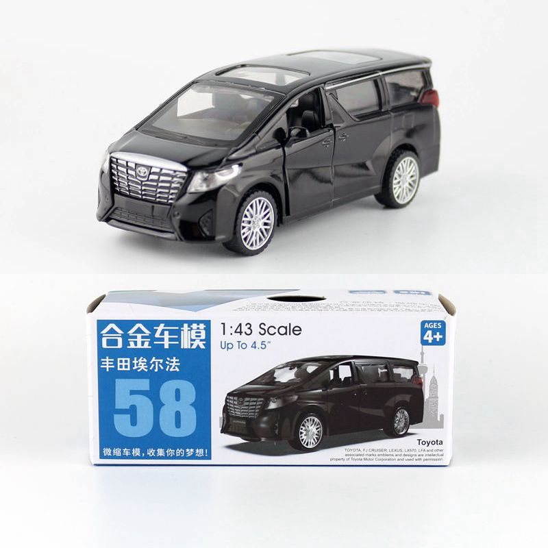 CAIPO 1:43 Toyota Alphard MPV Alloy Pull-back Vehicle Model Diecast Metal Model Car For Boy Toy Collection Friend Children Gift
