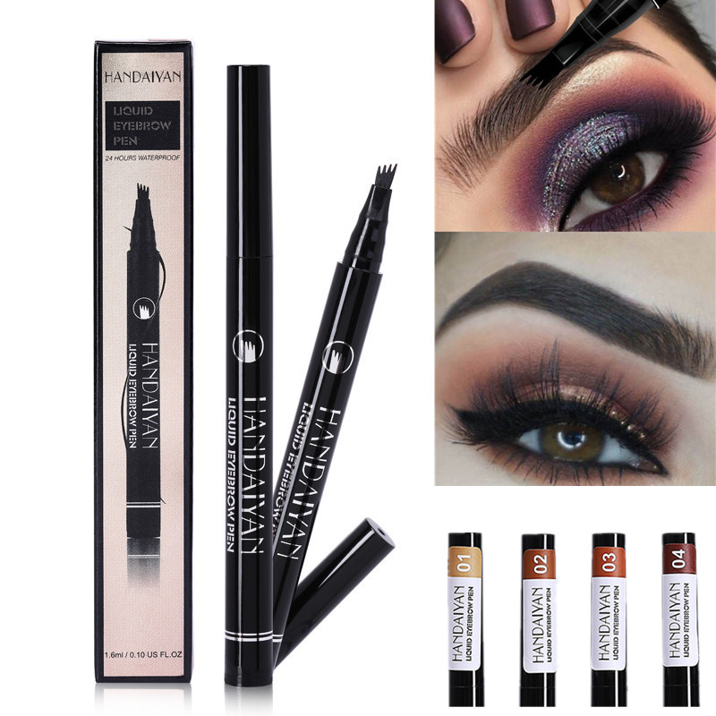 5 Color Microblading Waterproof Eyebrow Pencil Four-claw Eye Brow Tint Makeup Tattoo Pen Tinted Fine Sketch Eye Brow Pencils