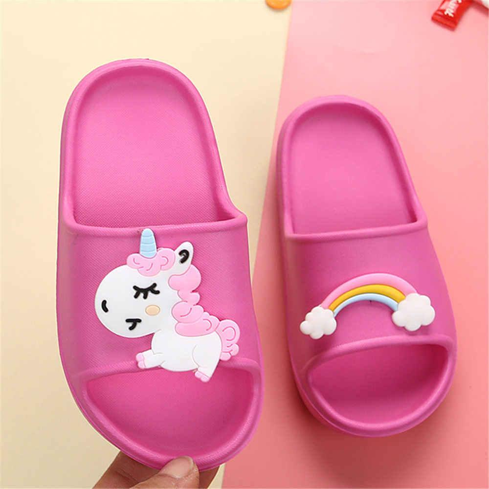 Summer Girls Slippers Rainbow Unicorn
