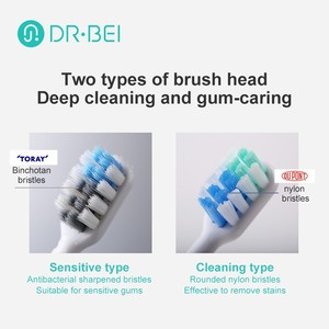 Image 3 - DR. Bei Toothbrush Installation Hair Brush Toothbrush Brush Head Replacement for C01 Oral Care Teeth Cleaning 2 pcs /Set Xiomi