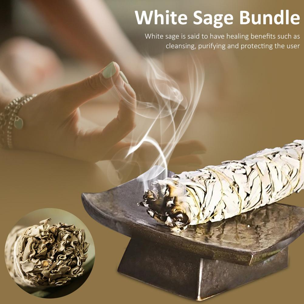 White Sage Bundle Pure Leaf Smoky Purification Smudge Stick Home Air Fresheners Incense Burning For Healing Yoga Meditation