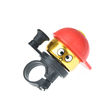 Bike Ride Horn Alarm Bicycle Bell Ring Lovely Kid Boy Hat Ring Bell For Cycling Bicycle image