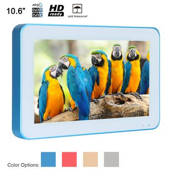 Souria 10 6 cal IP66 wodoodporna TV niebieska oprawka przenośne luksusowe LED do dyszy prysznicowej SPA telewizory łazienka reklama tanie i dobre opinie 16 9 19 cali Ntsc Secam Hdmi DisplayPort CN (pochodzenie) HD (1366*768) 390x355x110 mm 3 5 kg W286xH182xD31 mm PAL (50Hz)