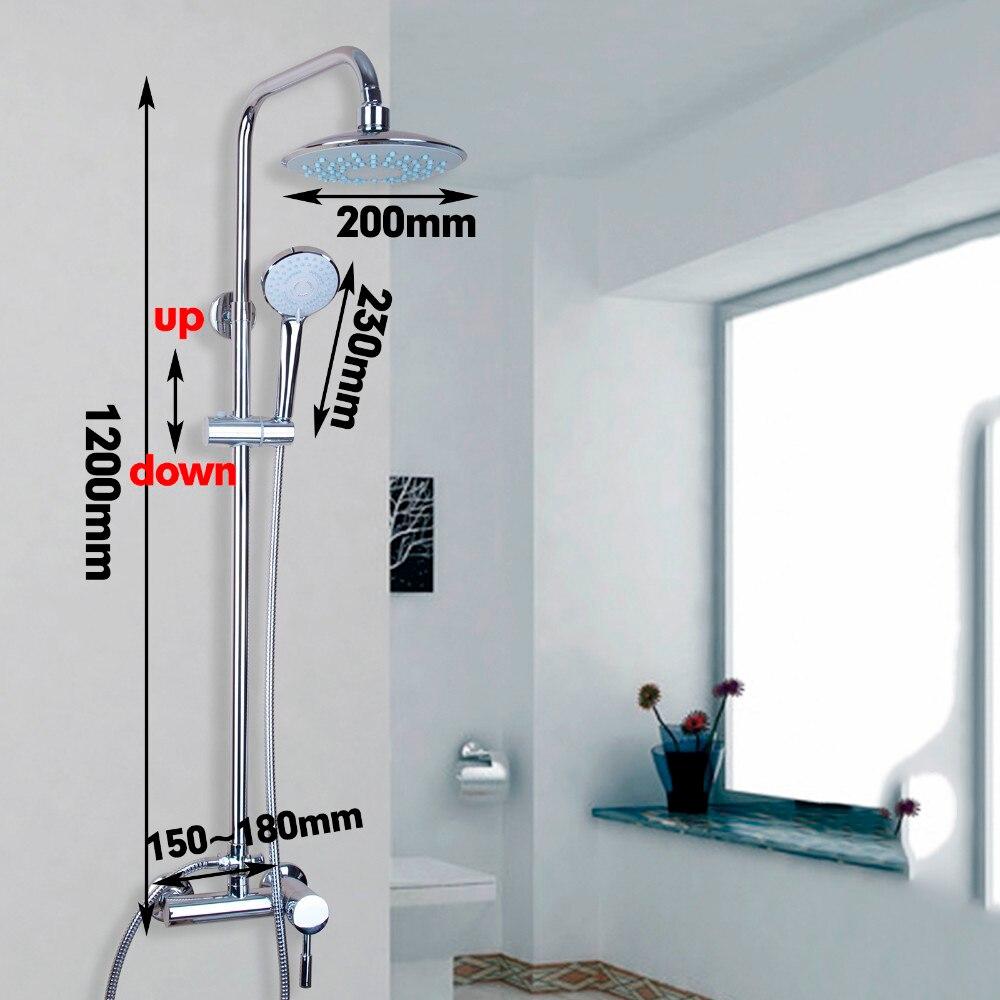 Round Hand Held Shower Head Black Bathroom Wall Mount Brass Shower Holder Set