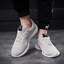 цена на 2019 Hot Sale Men Shoes Casual Shoes Summer Unisex Lightweight Breathable Mesh Fashion Male Shoes Sneakers Plus Size 39-47