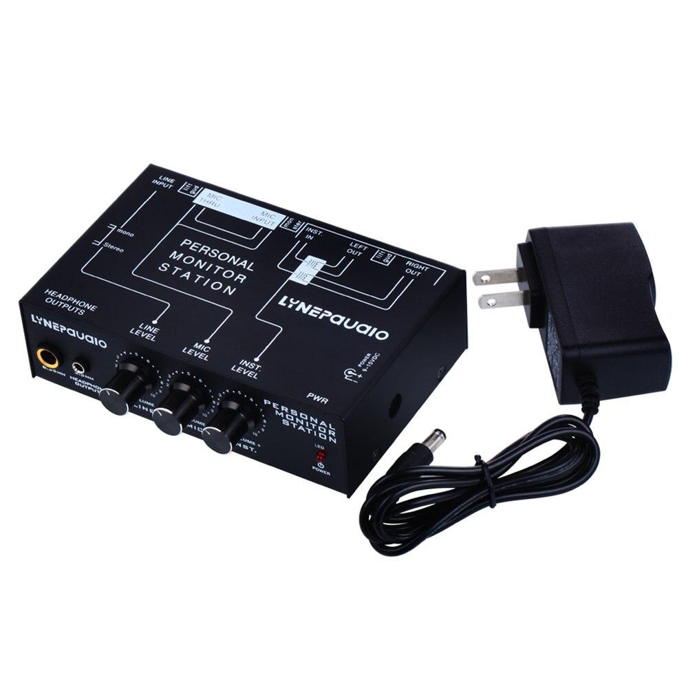 Mélangeur de Microphone stéréo professionnel à trois canaux sortie de Signal équilibrée avec réglage du Volume du moniteur casque