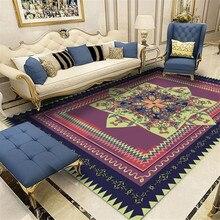 Персидский ковер для гостиной, европейский стиль, классический цветочный ковер, этнический марокканский большой ковер, диван, Дворцовый с принтом