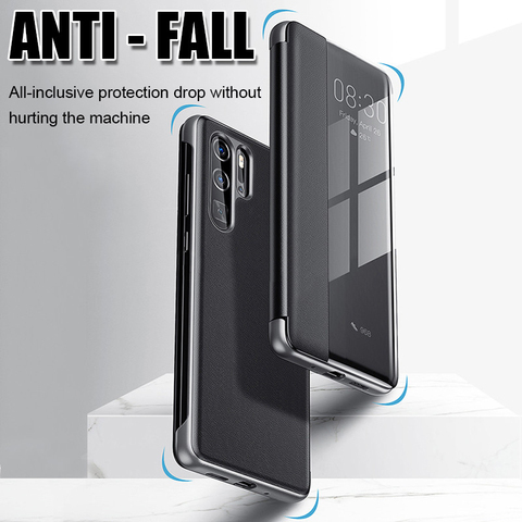 luxury Filp Leather case For samsung a10 2019 smart window view cover on For samsung galaxy a50 a70 a20 a30 a40 a60 cases coque Multan