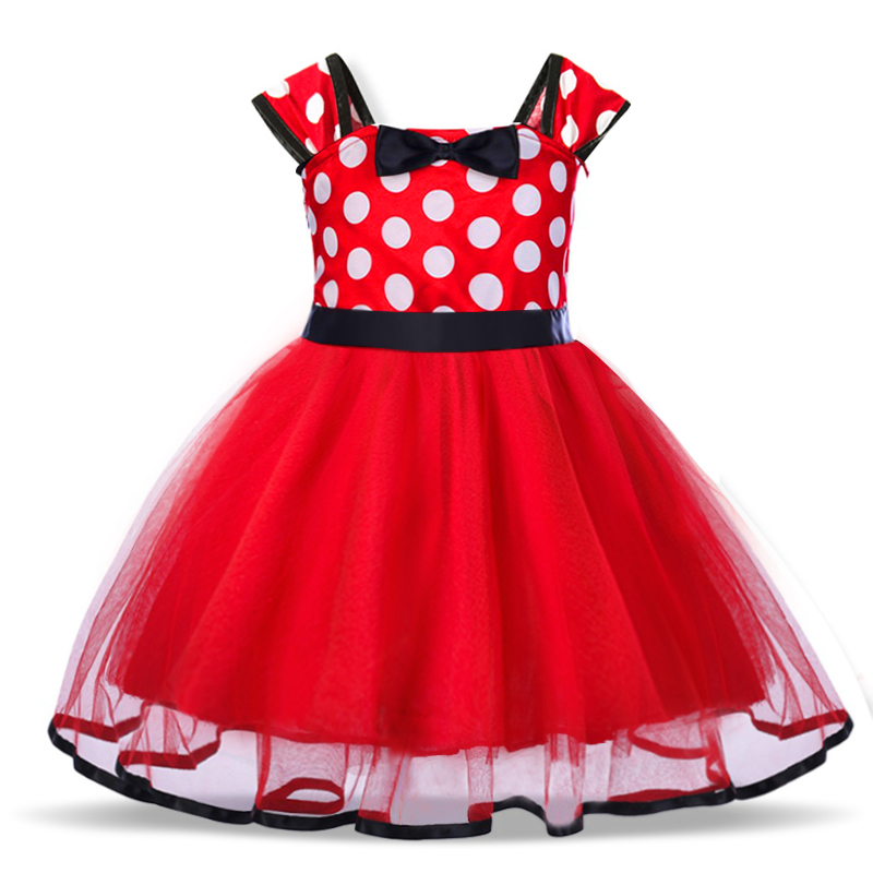 Baby Birthday Dress Girls Christmas Dress Baby Girl New Year Dress Up Clothes Birthday Party Polka Dots Casual Wear Vestidos 22