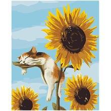 Diy Краски по номерам Животные napping kitten40x50cm выполненные