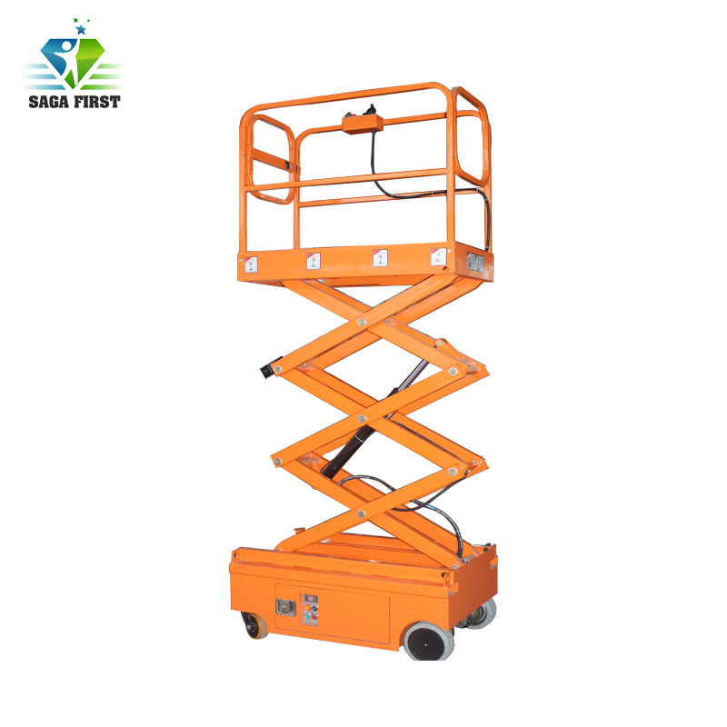 Stationary Upright Scissor Lift Warehouse Cargo Lift With CE
