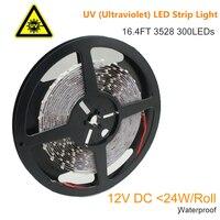 365nm 380nm UV Ultraviolet LED Strip Light Flexible SMD3528 12V 60LEDs per meter for UV Curing,Currency Validation,Medical Field