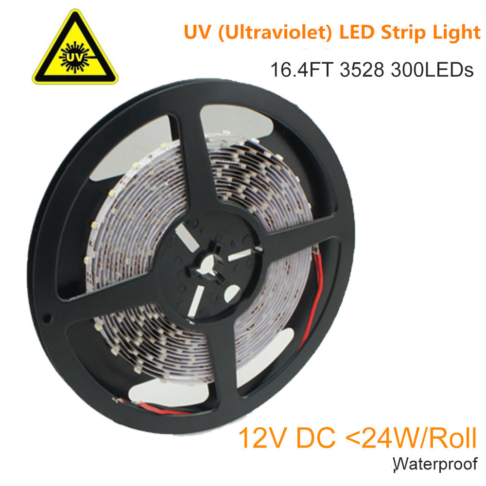 365nm 380nm <font><b>UV</b></font> Ultraviolet <font><b>LED</b></font> <font><b>Strip</b></font> Light Flexible SMD3528 12V 60LEDs per meter for <font><b>UV</b></font> Curing,Currency Validation,Medical Field image