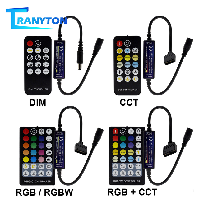 New LED RF Controller with 14/17/28 Keys Remote Control for Single Color / Double White / RGB / RGBW / RGB+CCT LED Strip Lights