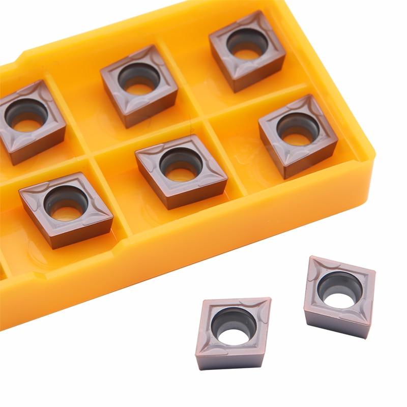 10pcs CCMT09T304 VP15TF Internal Turning Tools Carbide Inserts CCMT 09T304 CNC Lathe Cutter Cutting Tool CNC Tools Tokarnyy Amw