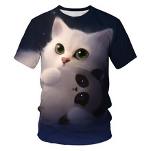 Kids Girl T Shirt Summer Baby Boy 3D Tops Toddler Tees Clothes Children Clothing kawaii Cat T-shirts Short Sleeve Casual Wear jumping meters kids girl t shirt summer baby cotton tops toddler tees clothes children clothing unicorns baby girls t shirts