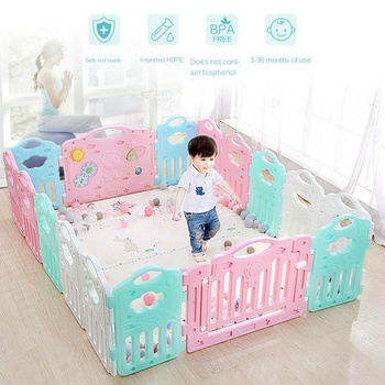 Children Infant Plastic Gaming Fence Baby Playpen Creeping Mat Step Guardrail Safe Fence Household Indoor Playground