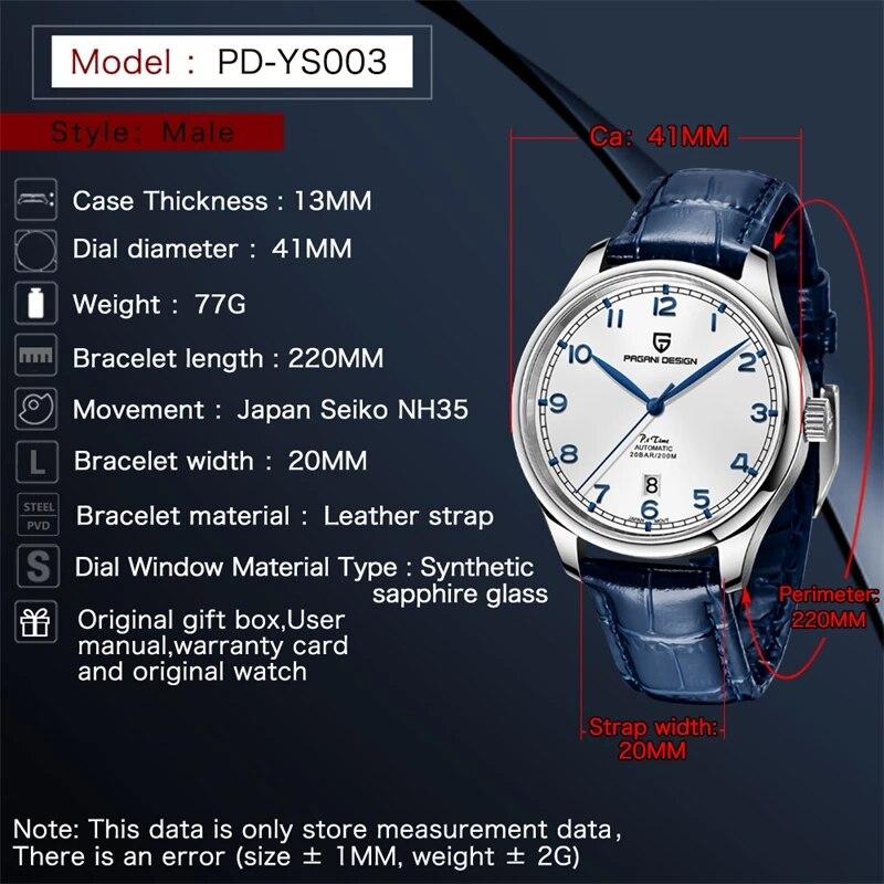 PAGANI DESIGN New Pilot Watch Luxury Sapphire Glass Automatic Watch Waterproof 200M Mechanical Watches Top Brand Watch for Men 2
