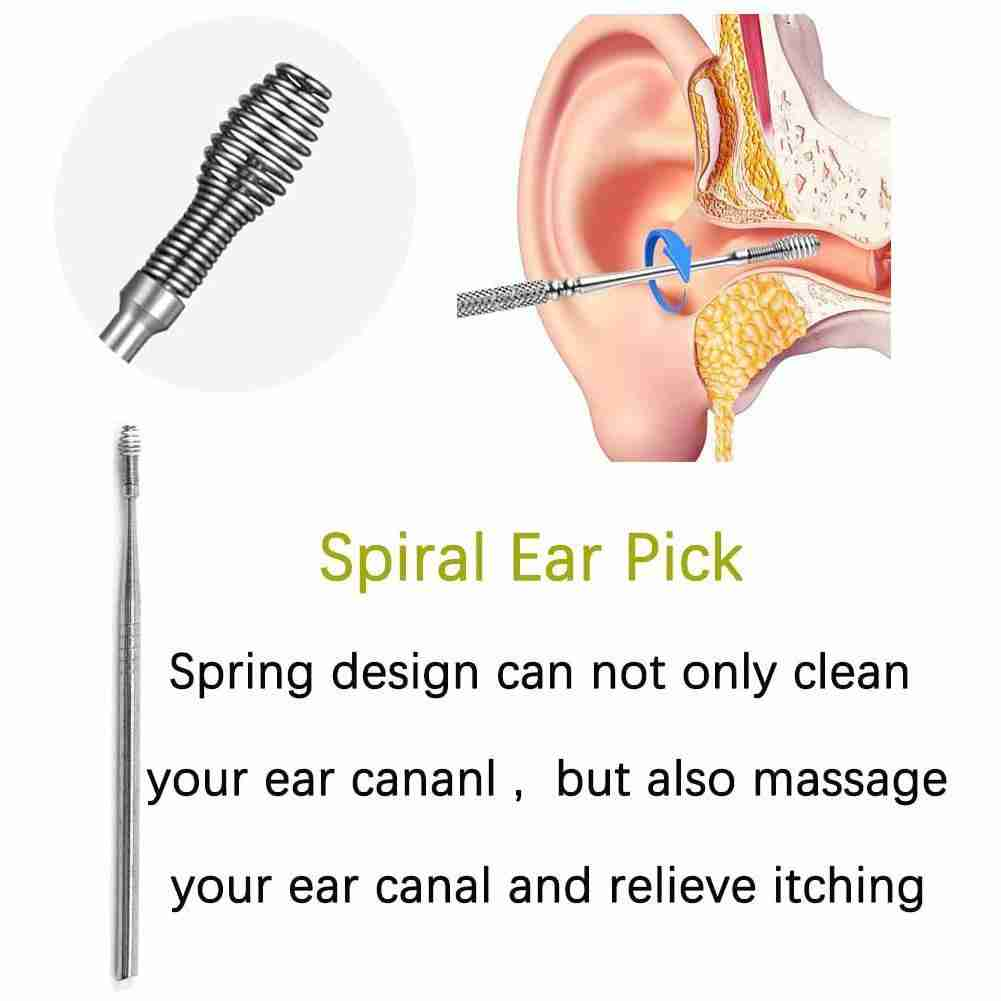1pc Ear Wax Remove Kit Ear Pick Cleaning Tools  Ear Pick Curette Wax Cleaner Removal Health Stick Tool 4
