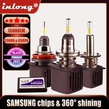 H7 led canbus lampada h1 lâmpadas led com chips samsung h11 h4 led farol do carro h8 9005 hb3 9006 hb4 conduziu a lâmpada 15000lm luzes de nevoeiro