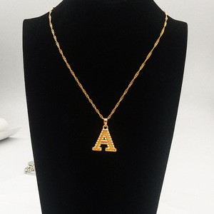 2020 Fashion Gold 26 Letters Charm Neckaces For Women Chic Jewelry Collier Femme Alphabet Initial Name Necklace Birthday Gift