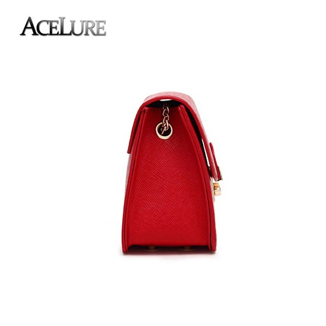 ACELURE Alligator Crocodile PU Leather Handbag Mini Small Women Crossbody Bag Chic Chain Women Messenger Shoulder Bag Feminina