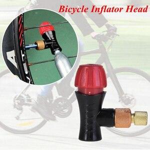 Cabeça do inflador da bicicleta compatível para presta schrader válvula de co2 parte da bomba bicicleta estrada conector inflável acessórios da bicicleta