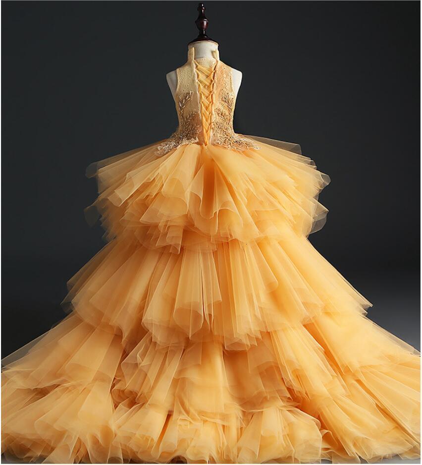vestido contas tule vestido de baile meninas