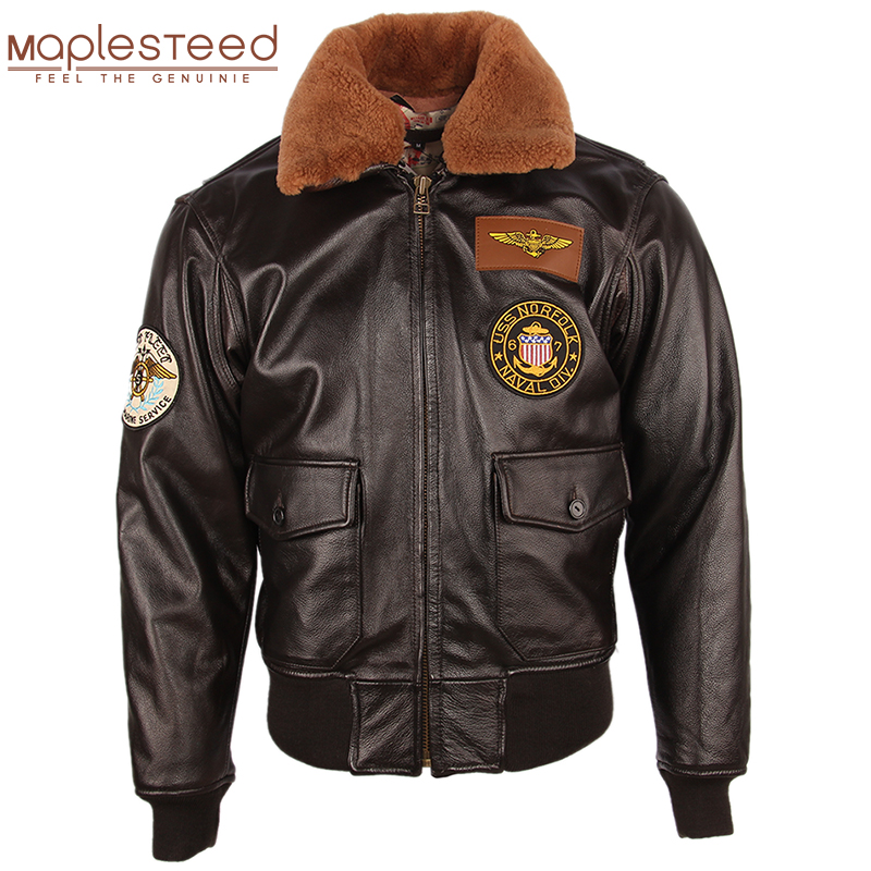 Men Leather Jacket Thick 100% Calfskin Quilted Natural Fur Collar Vintage Distressed Leather Jacket Men Warm Winter Coat M253