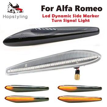 Luz intermitente secuencial de señal de giro dinámica, para Alfa Romeo Boera...