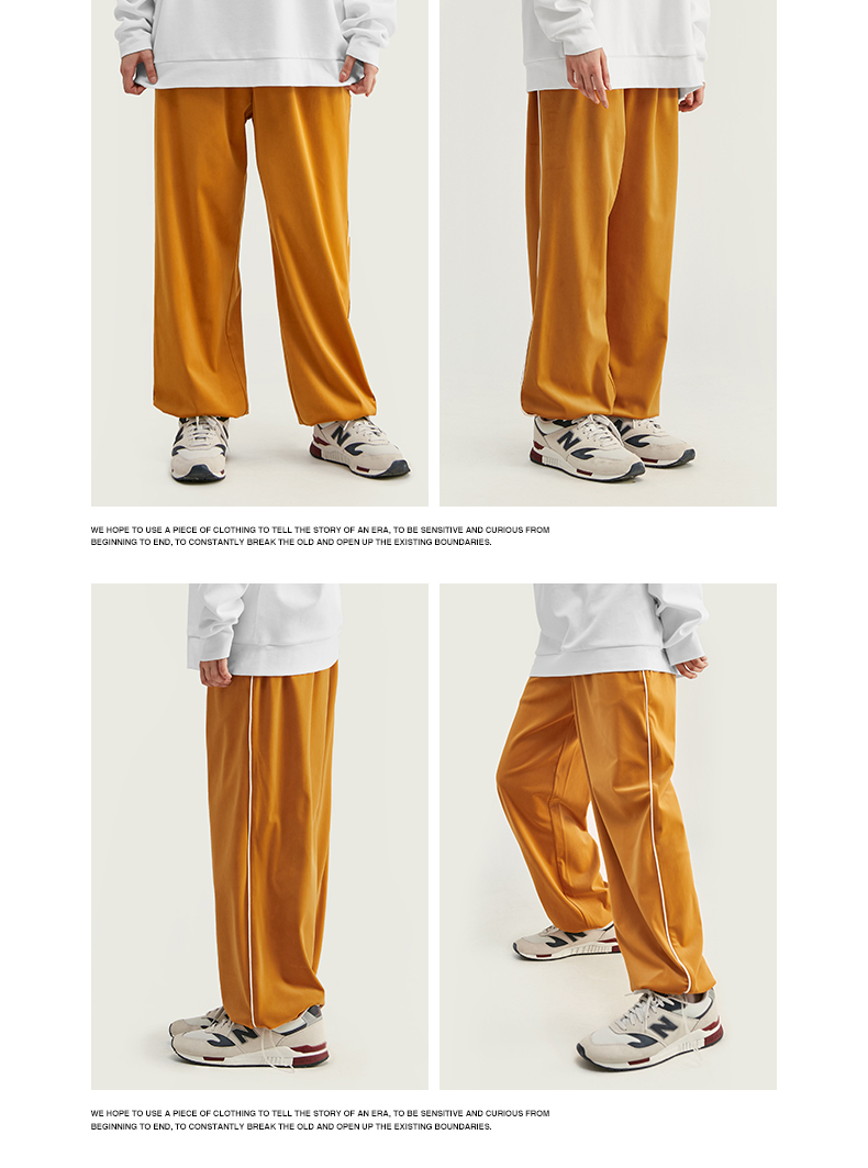 INFLATION 2020 FW Men Track Pants Loose Fit Overalls Solid Color Men Track Pants Streetwear Flannelette Fabric Men Pants 93381W 64