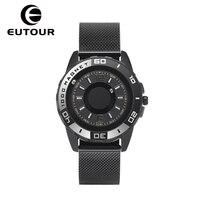 EUTOUR Wood Quartz Watch Men's Luxury Sports Design Shell Original Magnetic Watch Fashion Simple Watch Belt Men's Watch Gift
