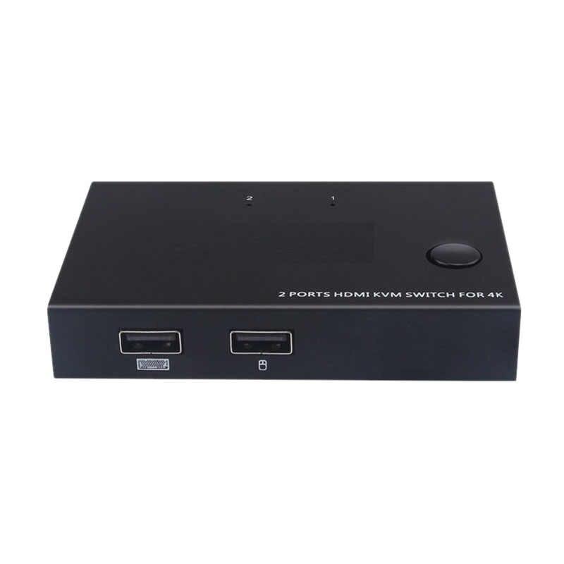 4K 60Hz 2-Port Hdmi كابل مفتاح ماكينة افتراضية معتمدة على النواة مع الصوت Hdmi Am-Km201