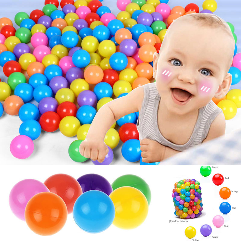 100 Pcs Non-Toxic Ocean Bobo Ball 5.5cm Plastic Christmas Gifts Baby Kid Swim Pit Toy Hand-Eye Coordination Baby Tent Ball